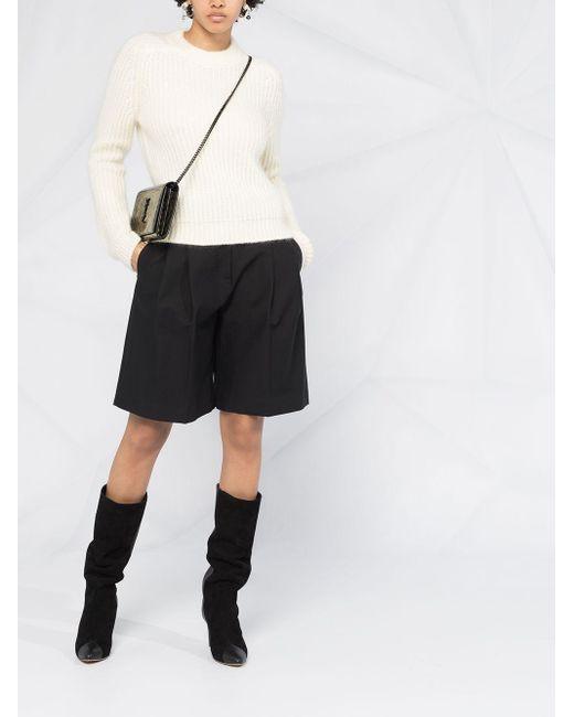 Джемпер В Рубчик Saint Laurent, цвет: White