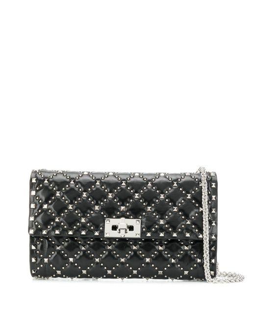Valentino Black Rockstud Spike Crossbody Bag