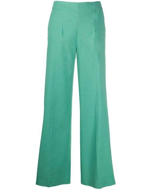 Расклешенные Брюки С Завышенной Талией Pinko, цвет: Green