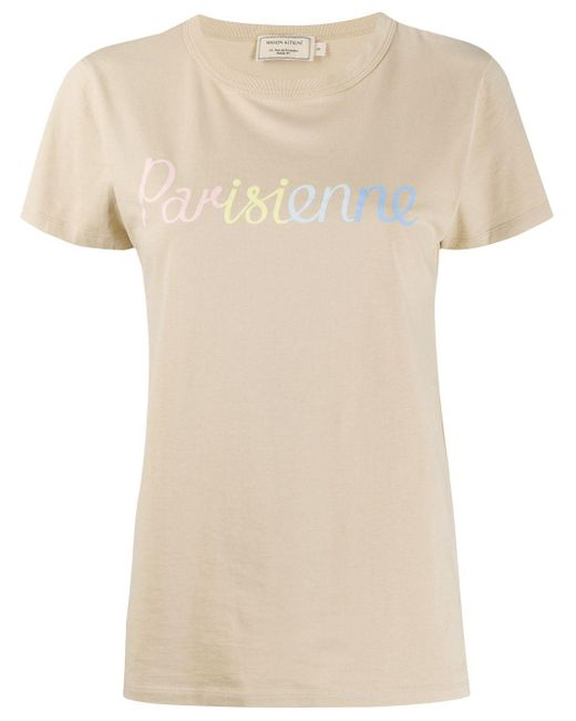 Maison Kitsuné スローガン Tシャツ Multicolor