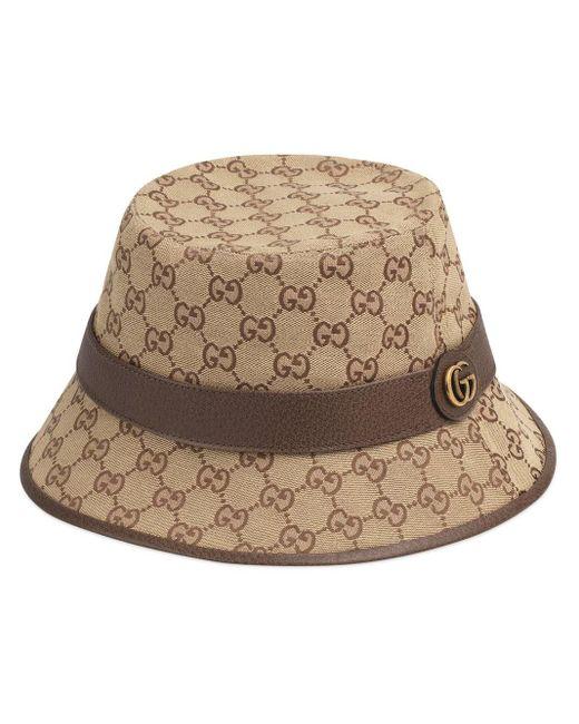 メンズ Gucci GGスプリーム キャンバス バケットハット Natural