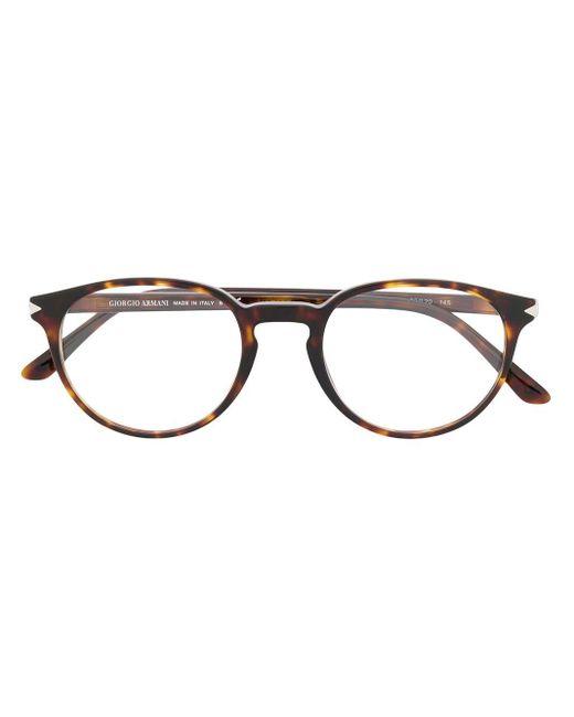 Giorgio Armani ラウンド眼鏡フレーム Multicolor