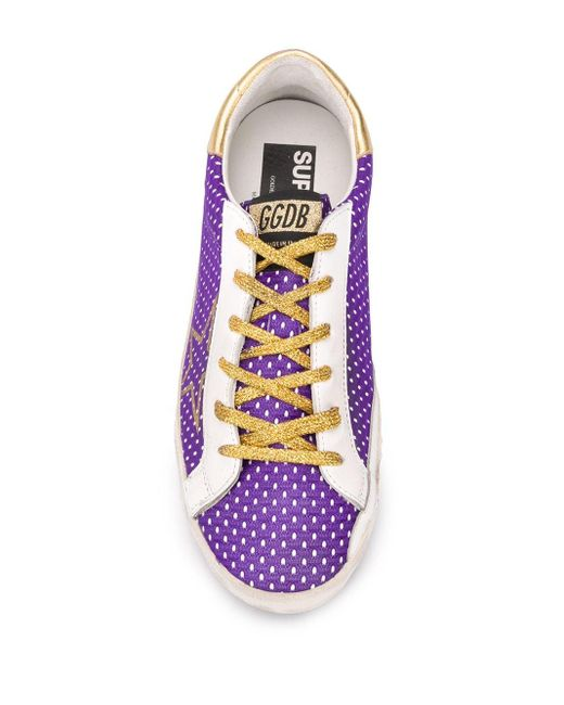 Golden Goose Deluxe Brand Purple 'Superstar' Sneakers