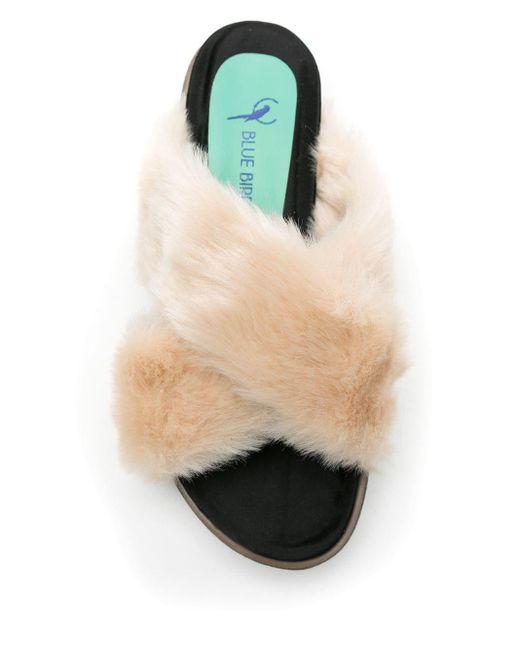 Blue Bird Shoes Fluffy フラットサンダル Multicolor