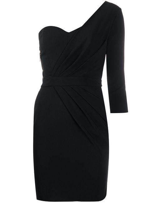 Elisabetta Franchi Vestido de una sola manga de mujer de color negro