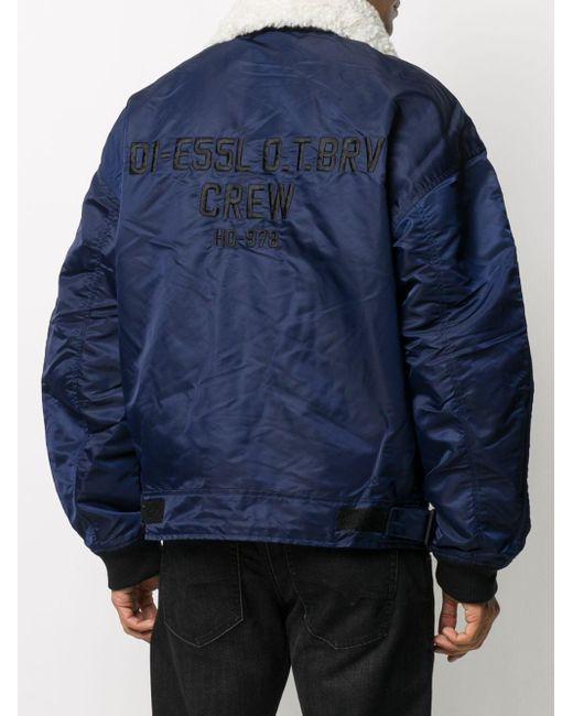メンズ DIESEL J-leander ボンバージャケット Blue
