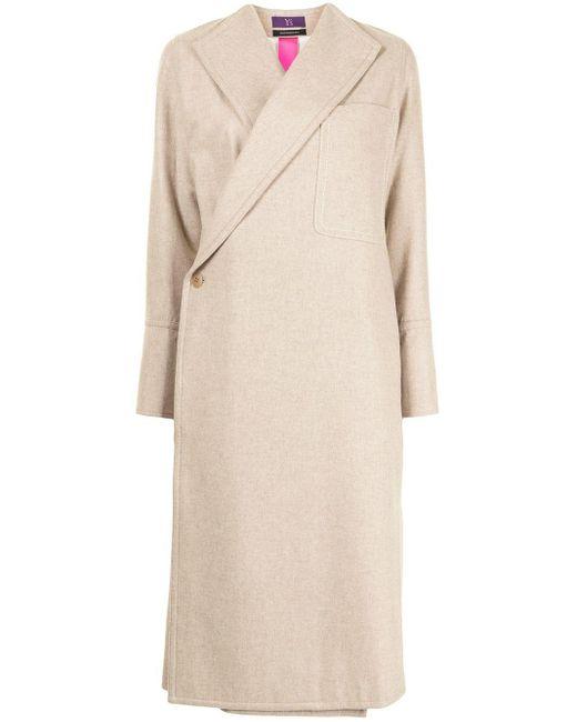 Пальто Асимметричного Кроя Y's Yohji Yamamoto, цвет: Brown