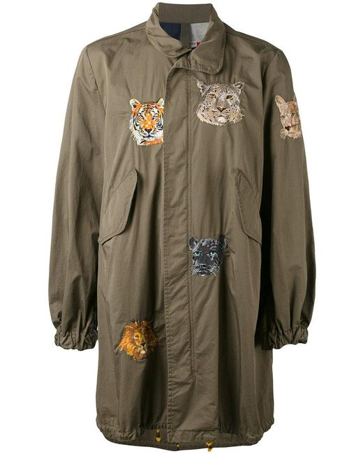History Repeats | Green Embroidered Military Coat for Men | Lyst