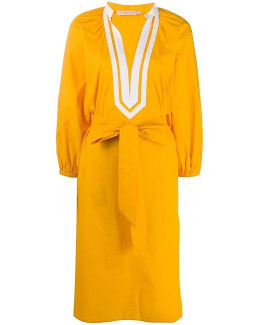 Tory Burch パフスリーブ ドレス Orange