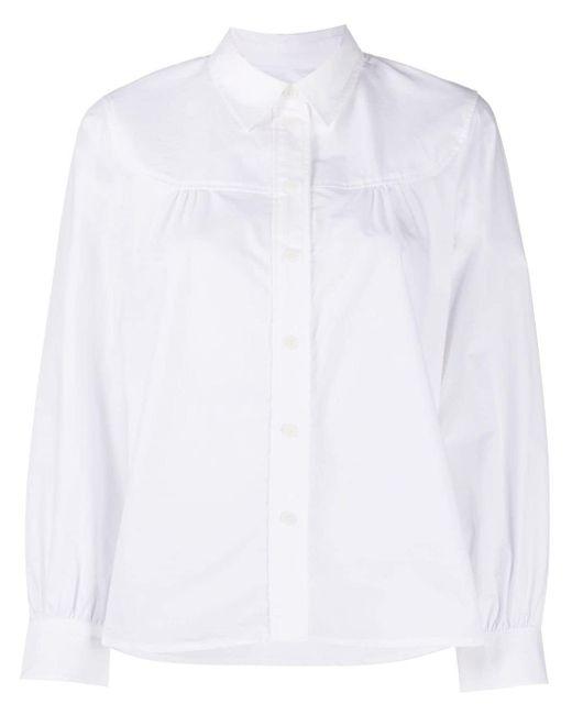 A.P.C. スプレッドカラー シャツ White