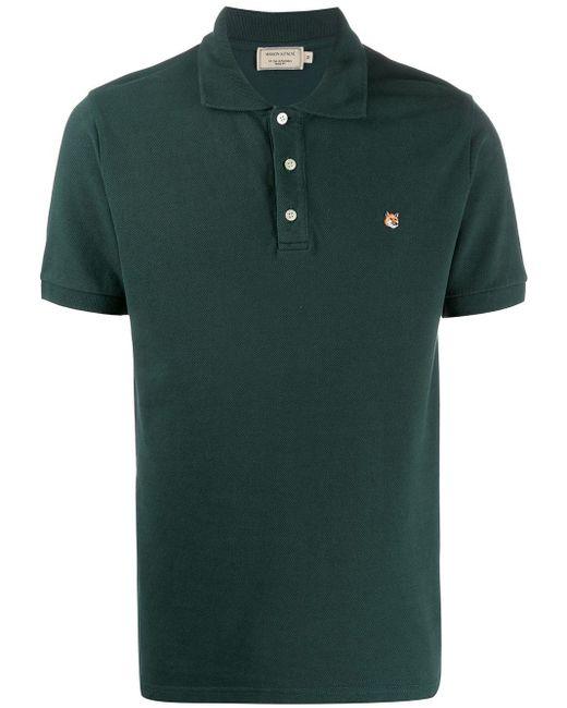 メンズ Maison Kitsuné エンブロイダリー ポロシャツ Green