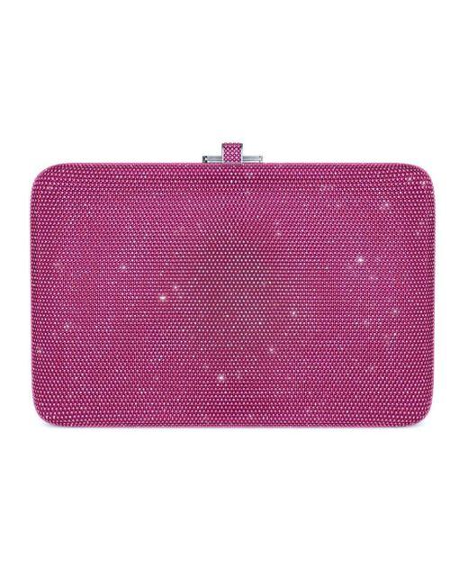 Judith Leiber Pink Slim Slide Customizable Monogram Bag