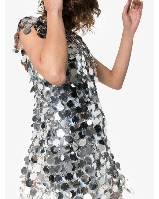 Paco Rabanne Metallic Sequin Chain-disc Mini Dress