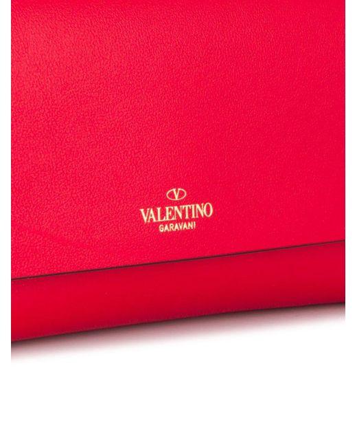 Valentino Garavani ロックスタッズ クラッチバッグ Red