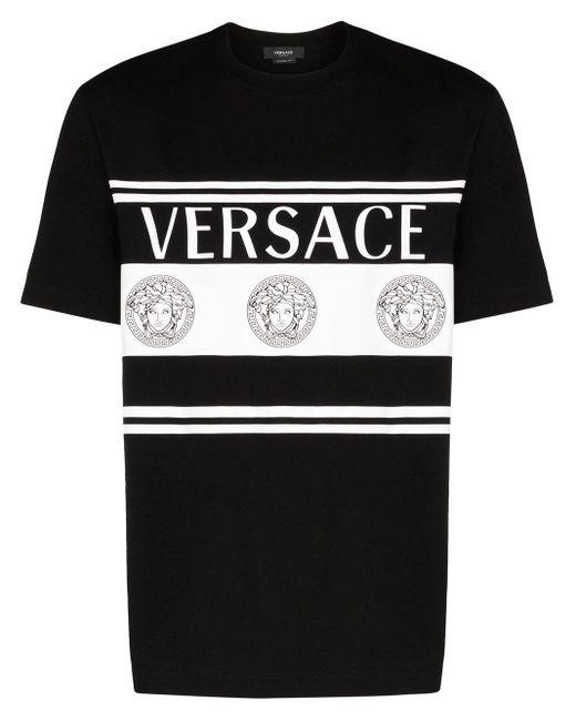 Футболка С Логотипом Versace для него, цвет: Black