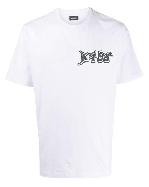 メンズ DIESEL K4os プリント Tシャツ White