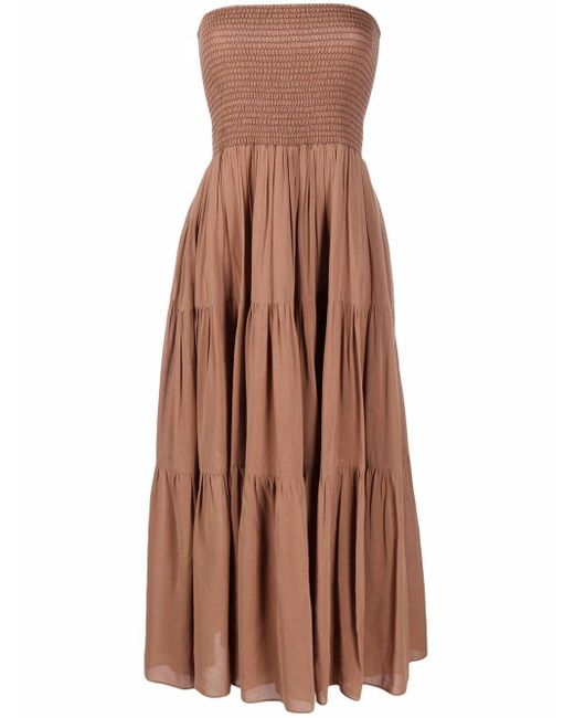 Pinko Brown Convertible Ruched Skirt