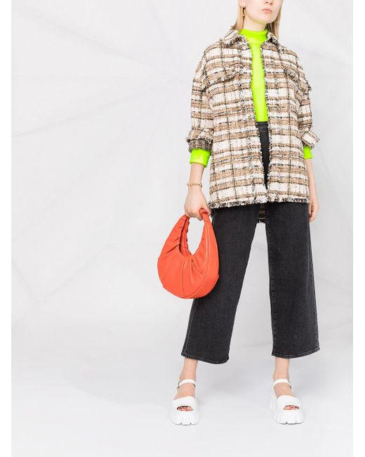 Твидовая Куртка MSGM, цвет: Multicolor