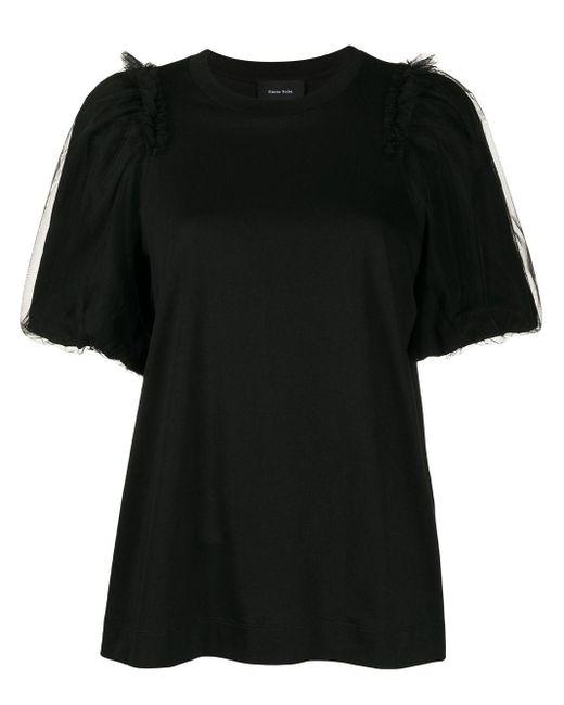 Simone Rocha チュールスリーブ Tシャツ Black