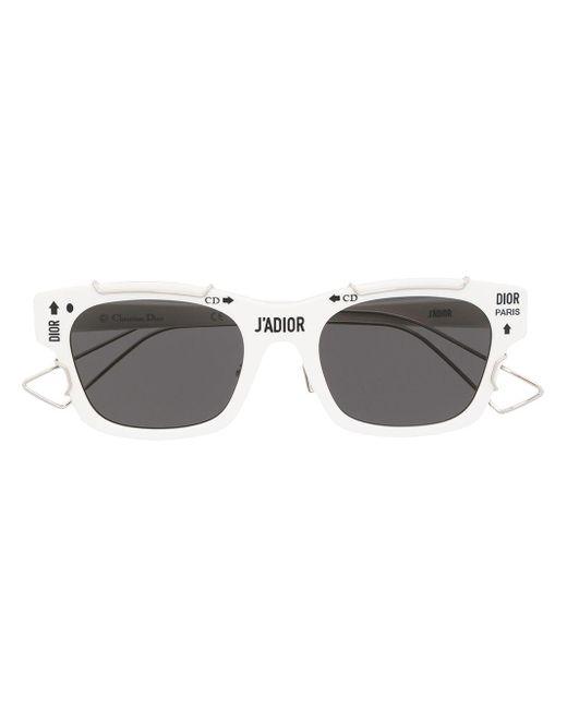 Солнцезащитные Очки В Квадратной Оправе Dior, цвет: White