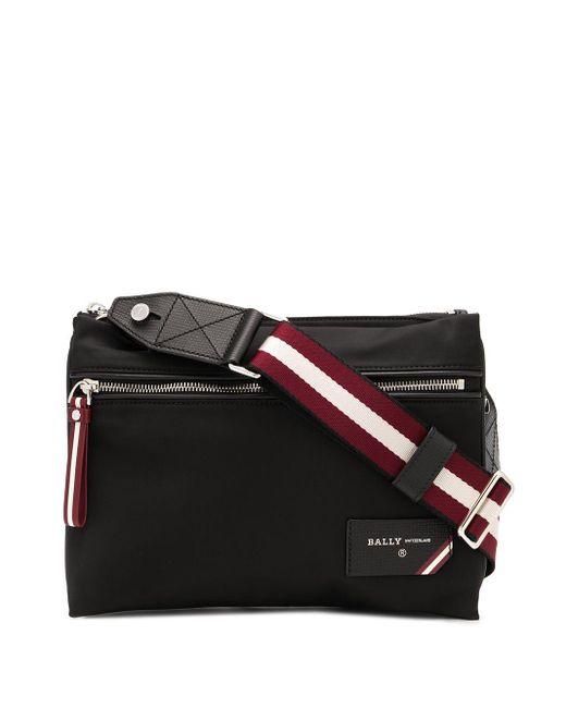 Bally Black Nylon Double-pouch Shoulder Bag for men