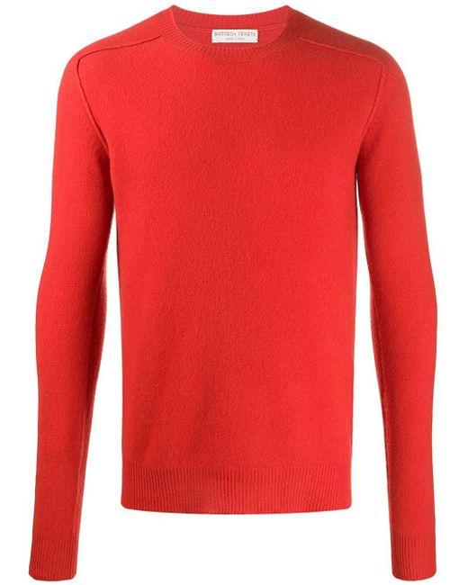 Трикотажный Джемпер С Длинными Рукавами Bottega Veneta для него, цвет: Orange