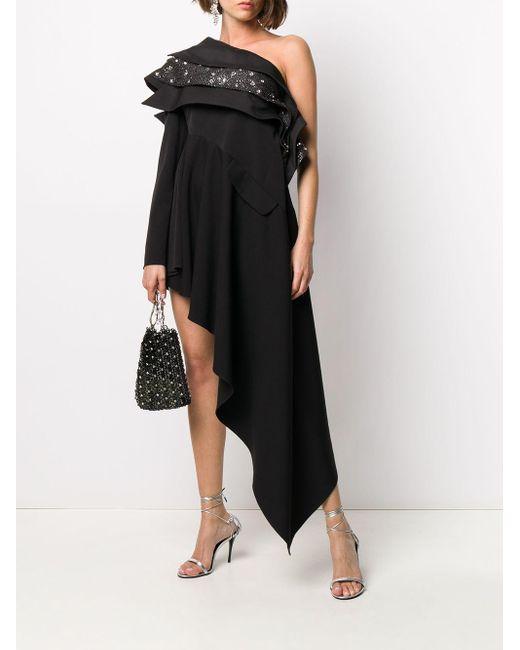 Loulou ビジュートリム ドレス Black
