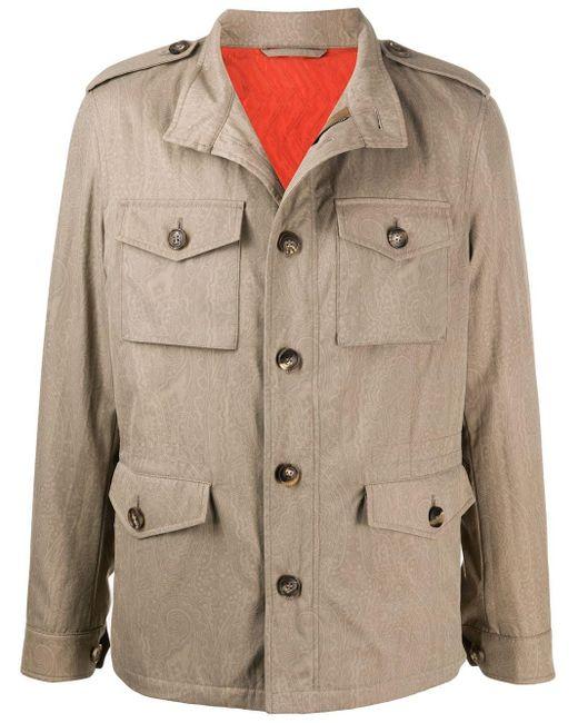 Куртка На Пуговицах Etro для него, цвет: Natural