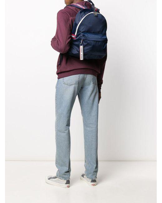 Sac à dos à bandes logos Tommy Hilfiger pour homme en coloris Blue