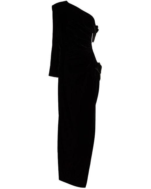 Saint Laurent ワンショルダー ドレス Black