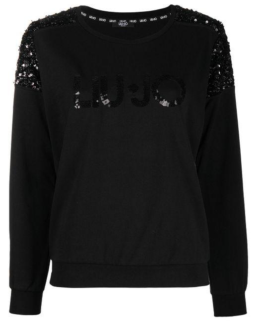 Liu Jo スパンコール スウェットシャツ Black