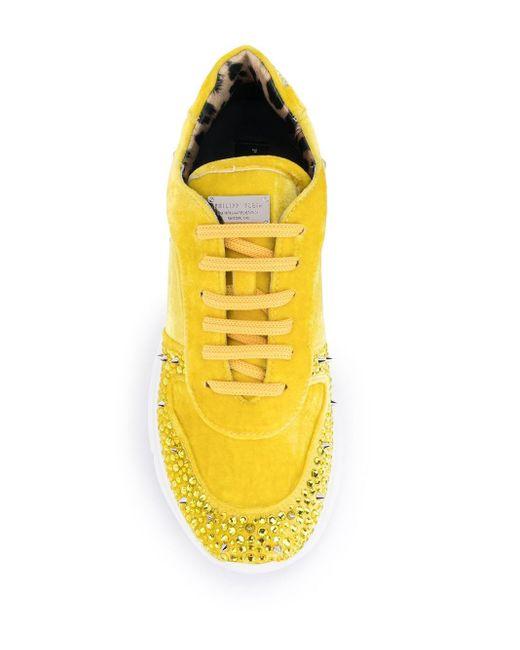 Кроссовки Studs На Массивной Подошве Philipp Plein, цвет: Yellow