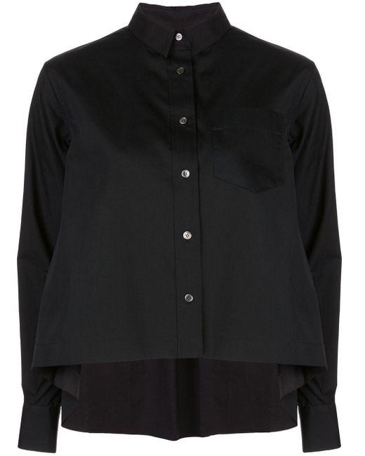 Sacai オーバーサイズ フレアシャツ Black
