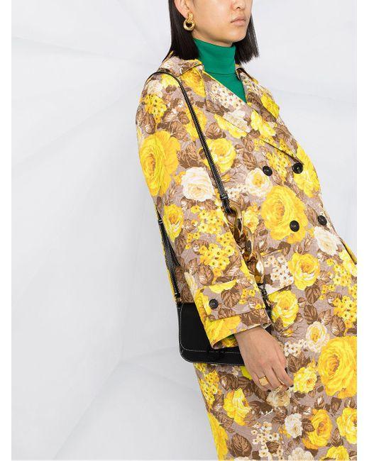 Тренч С Цветочным Узором MSGM, цвет: Yellow