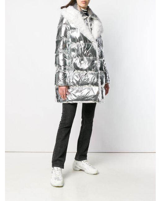 Yves Salomon ファートリム フーデッドコート Multicolor