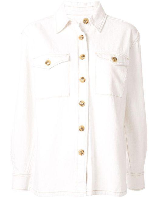 Nobody Denim Downtown シャツジャケット White