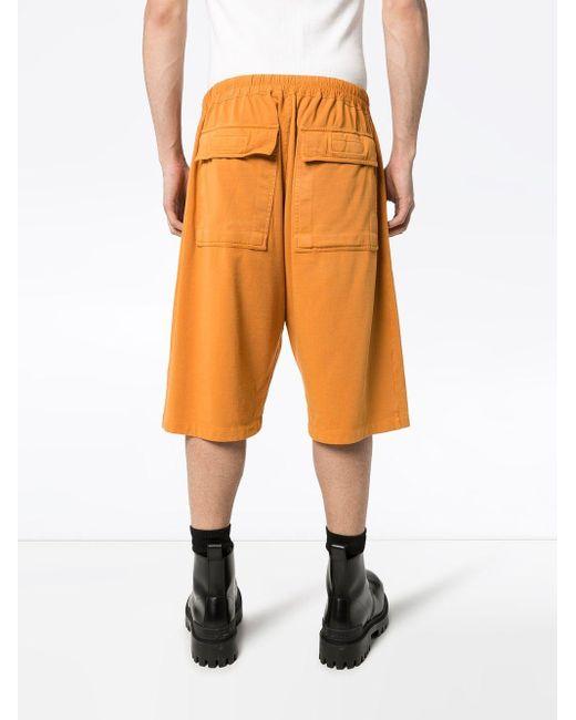 メンズ Rick Owens Drkshdw バミューダショーツ Orange