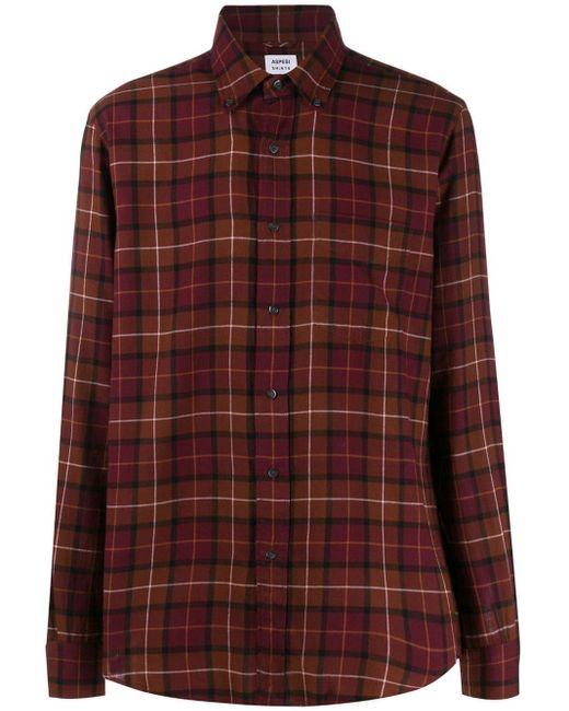 メンズ Aspesi チェックシャツ Red
