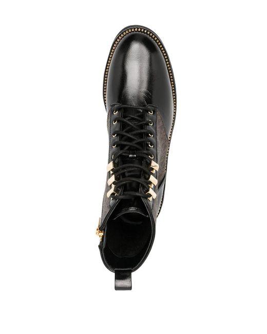 MICHAEL Michael Kors ロゴ レースアップ ブーツ Black