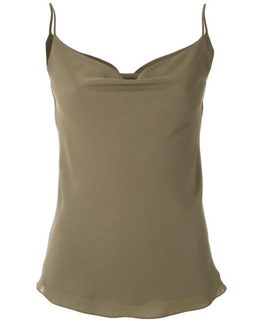 Egrey Camisola con cuello desbocado de mujer de color verde s25fU