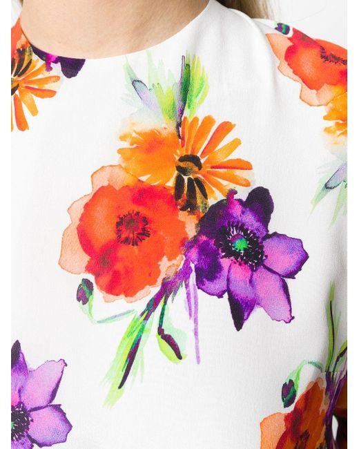 Платье С Поясом И Цветочным Принтом MSGM, цвет: Multicolor