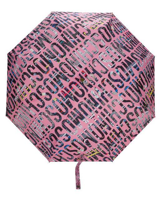 Зонт С Логотипом Moschino, цвет: Pink