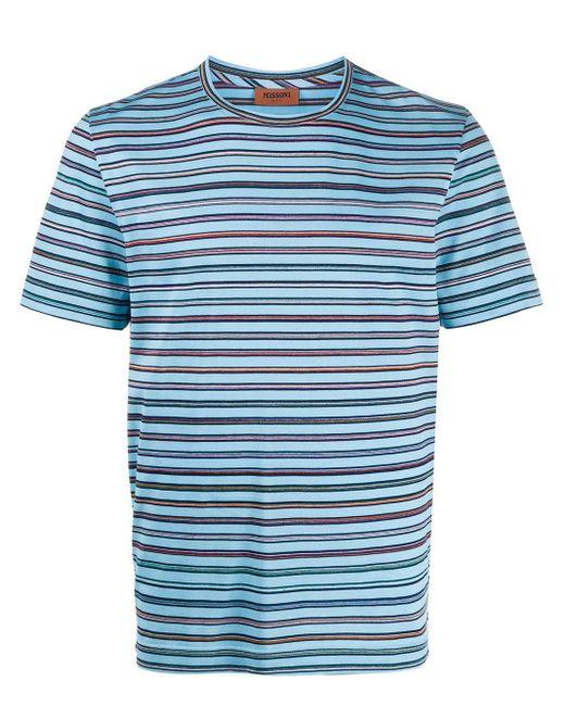 メンズ Missoni ストライプ Tシャツ Blue