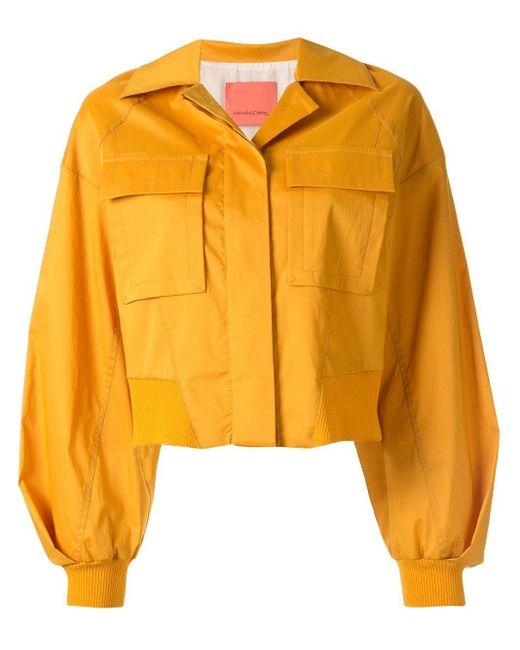 Manning Cartell クロップド シャツジャケット Yellow