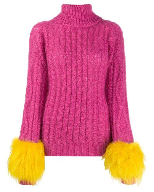 Prada タートルネック セーター Pink