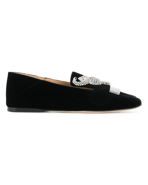 Sergio Rossi brooch embellished slip-on loafers ebay cheap real eastbay discount fashion Style PugLRl6