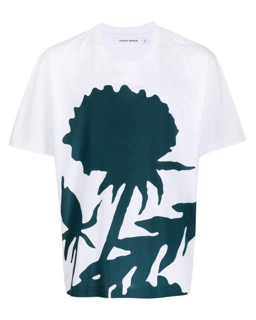 メンズ Craig Green カラーブロック Tシャツ White
