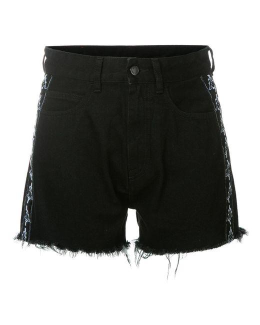 Marcelo Burlon X Kappa デニム ショートパンツ Black