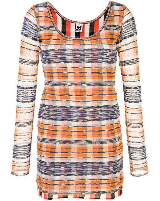 M Missoni チェック ドレス Orange