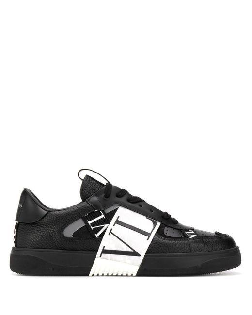 メンズ Valentino Garavani Garavani コレクション ブラック And ホワイト Vl7n スニーカー Black